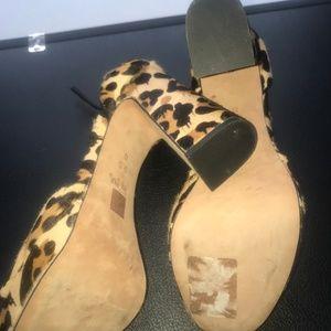Coach Shoes - Coach Animal Print Platform Heels (Calf Fur)